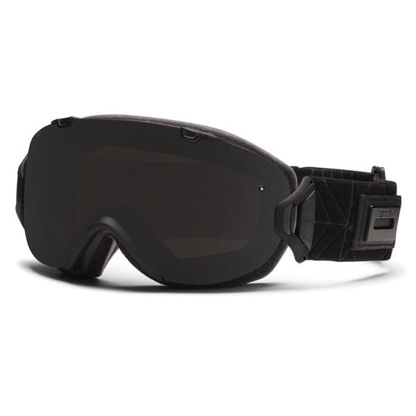 Smith Women's I/OS Snow Goggles with Blackout and Red Sensor Lenses