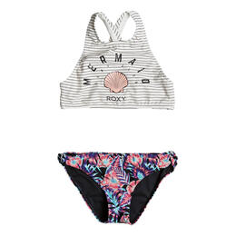Roxy Girl's Surf Miami Crop Top Bikini Set