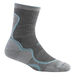 Darn Tough Vermont Women's Light Hiker Micro Crew Lt Cushion Sock Slate/Seafoam