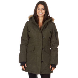 Avalanche Women's Faux-Fur Hooded Parka