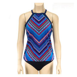 Jag Sport Women's Tribal Chevron Racerback Tankini Swim Top