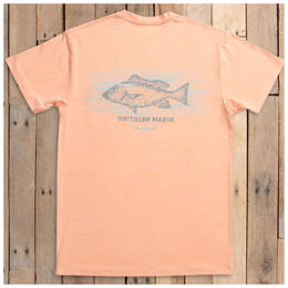 Southern Marsh Men's FieldTec Heather Performance T Shirt Snapper