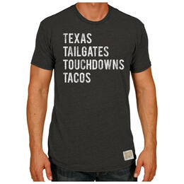 Original Retro Brand Men's Texas Tailgates Tacos T Shirt