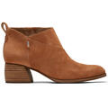 Toms Women's Leilani Brown Suede Booties