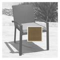 North Cape Cabo Dining Chair Cushion - Canv