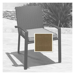 North Cape Cabo Dining Chair Cushion - Canvas Taupe W/ Linen Canvas Welt