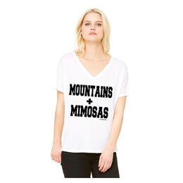 Oil Digger Tees Women's Mountains & Mimosas Short Sleeve T Shirt