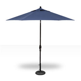 Treasure Garden 9' Push Button Tilt Umbrella - Black with Neptune