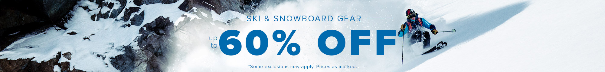 ski equipment 20% off