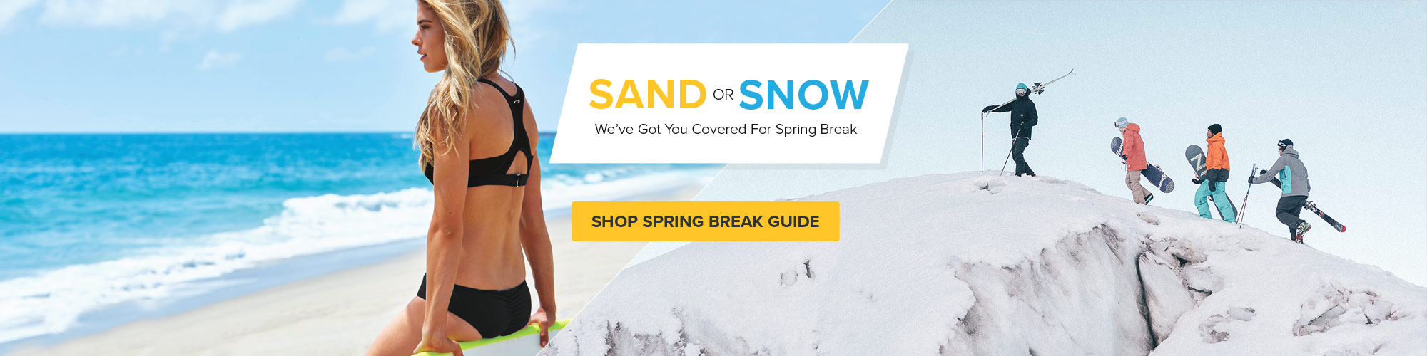 Spring Break Guide - Shop Now