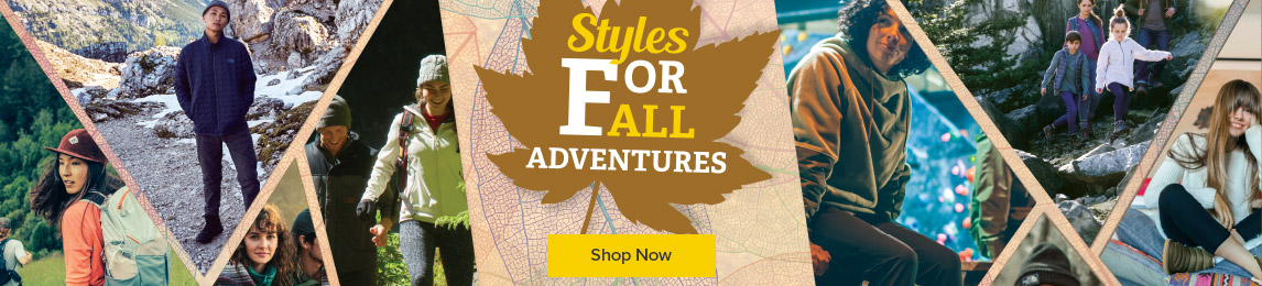 Styles for all adventures. New Fall Arrivals.