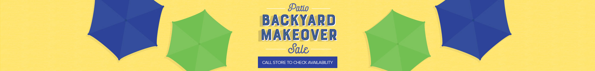 Backyard Makeover Patio Sale