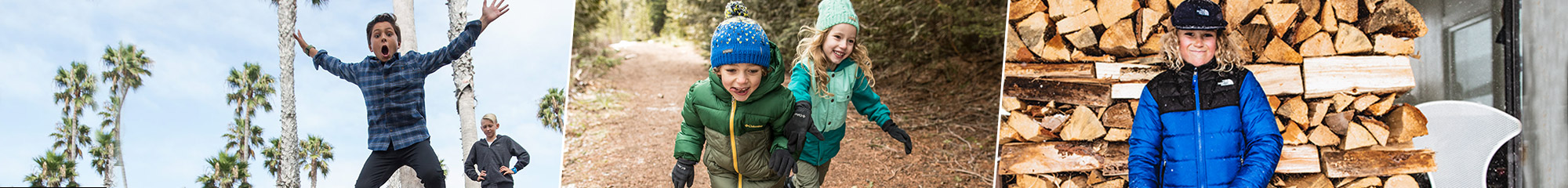 Kids summer and winter clothing and shoes