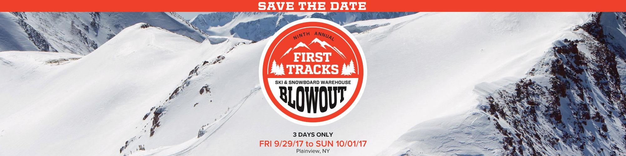 First Tracks Ski and Snowboard Warehouse Blowout - Sun \u0026 Ski