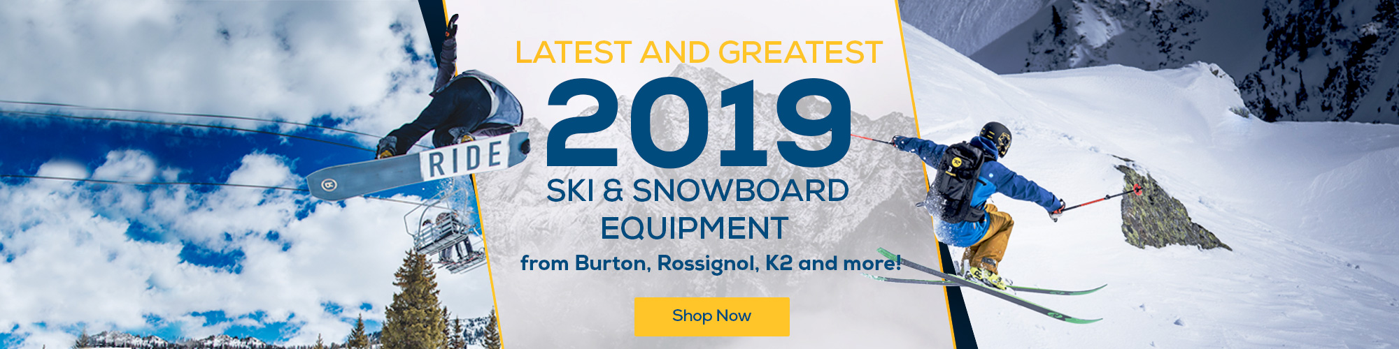 The latest and greatest 2019 ski and snowboard equipment.