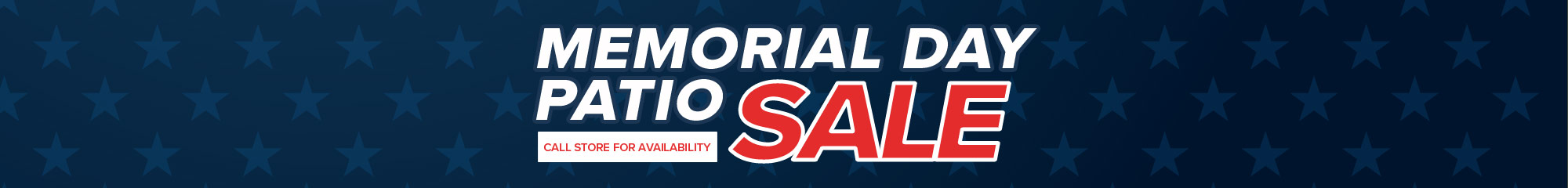 Memorial Day Patio Sale