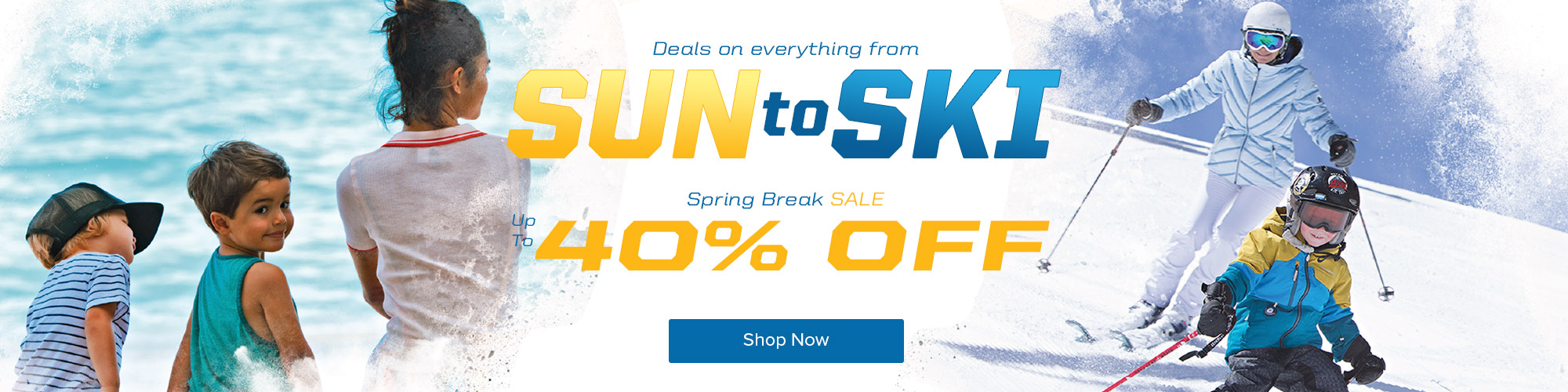 Deals on everything from sun to ski. Spring Break Sale - Up to 40% Off