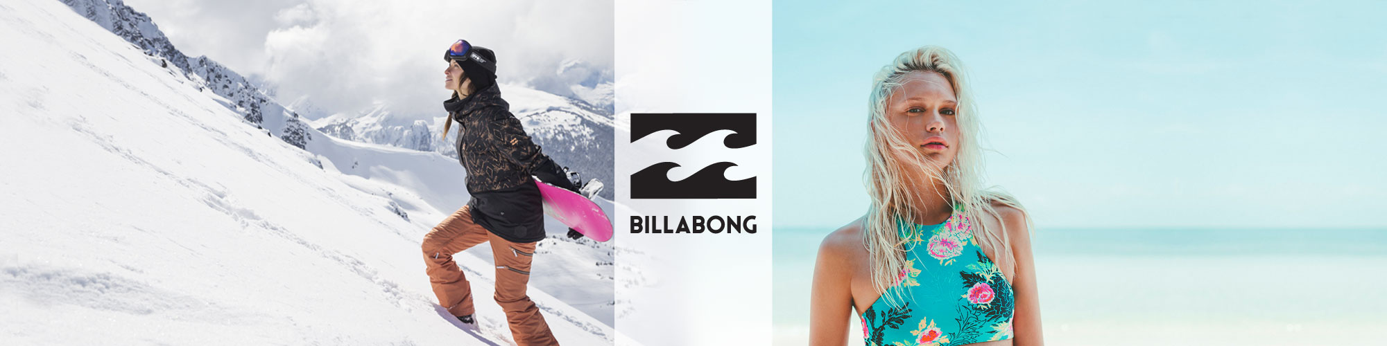 Billabong snow apparel, swimwear, clothing