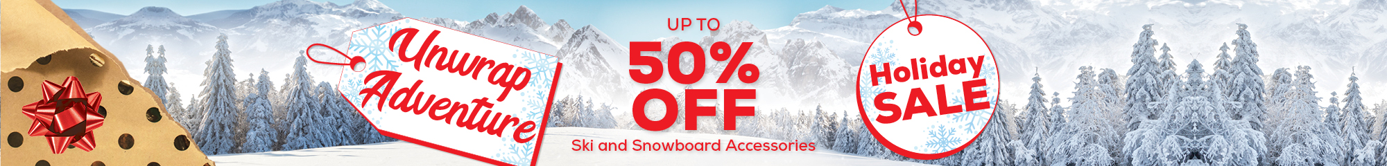 Up to 50% off Ski and Snowboard Accessories
