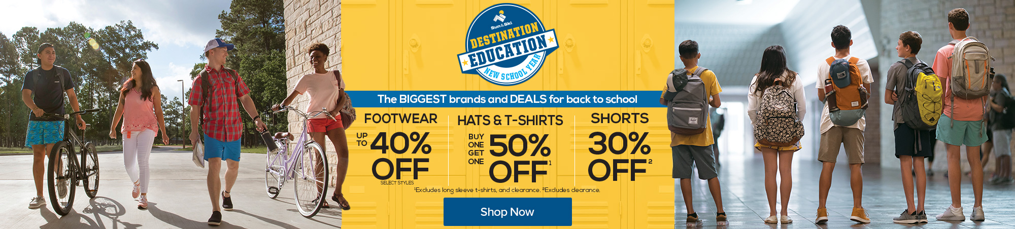 Destination Education. The biggest brands and deals for back to school. Shop now.