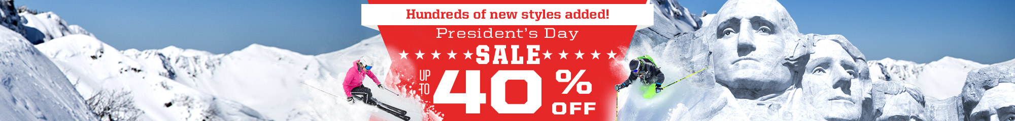 Presidents Day Sale - Save up to 40% off