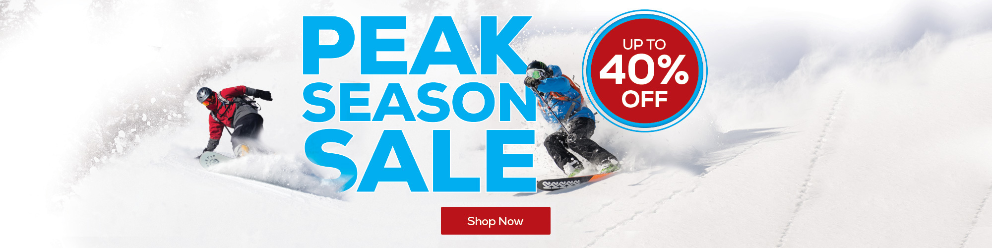 Peak Season Ski Sale. Up to 40% Off