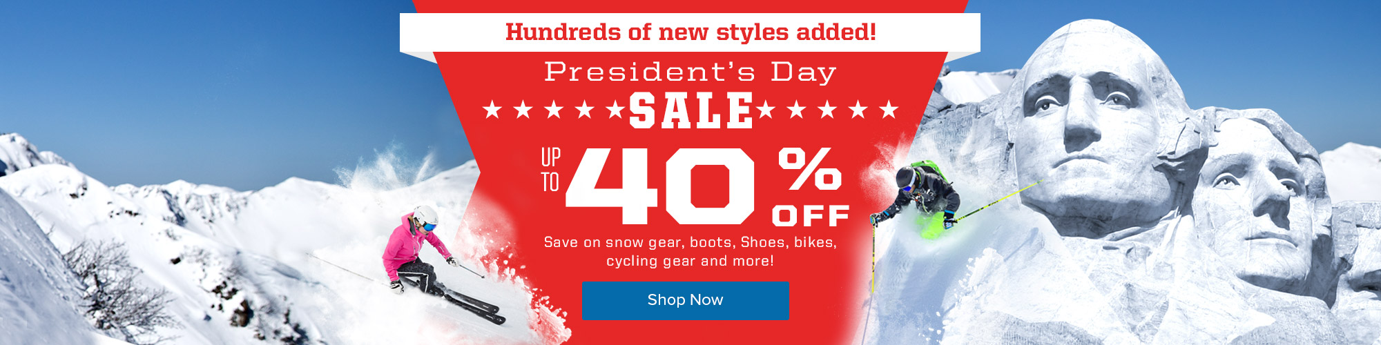 Presidents Day Sale - Up to 40% Off