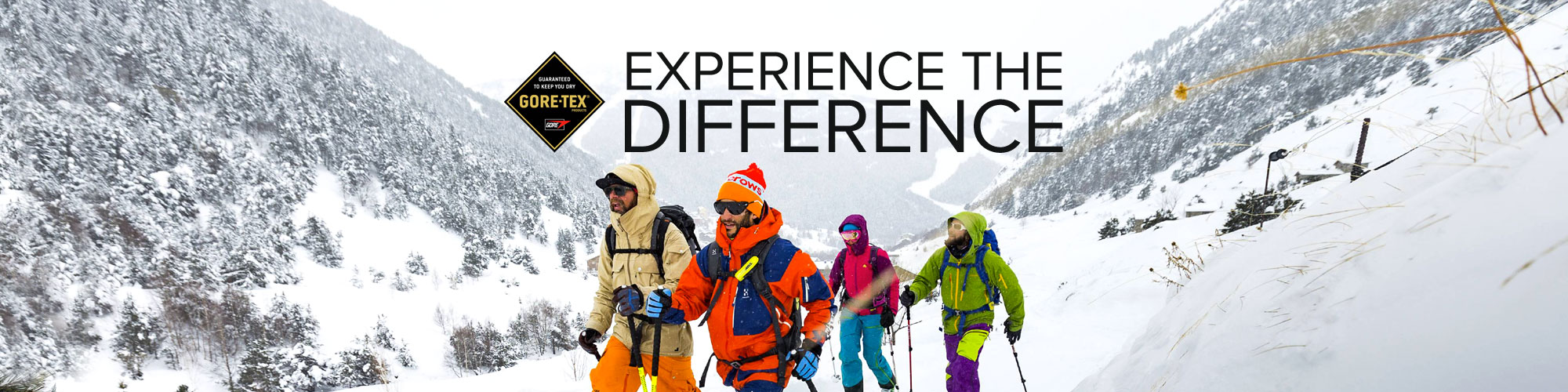 Experience the Difference with GORE-TEX Products