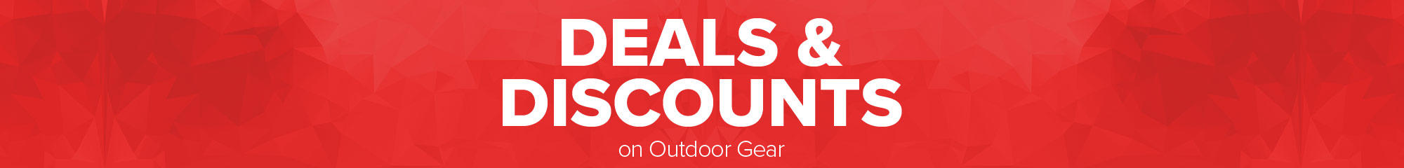 Deals and discounts on outdoor gear