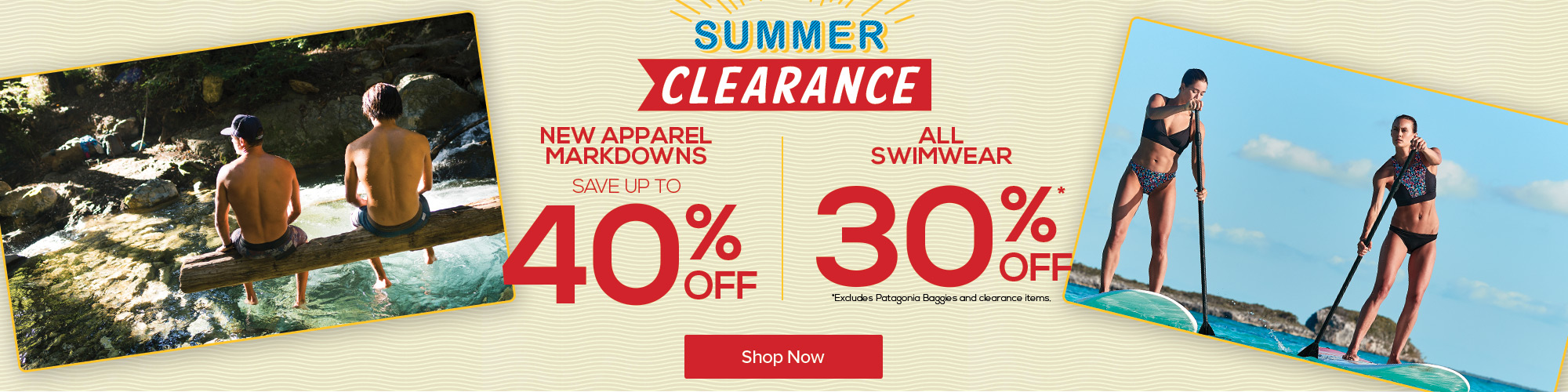 Summer Clearance. Save up to 40% Off.
