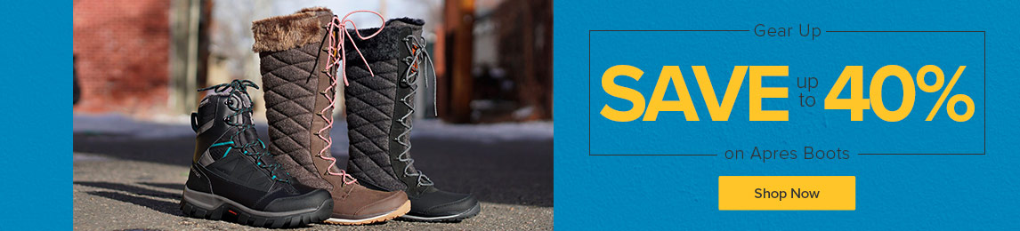 Gear up and save up to 40% on Apres Boots.