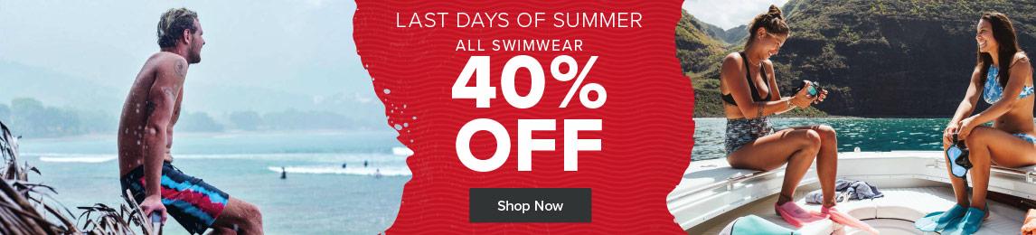 Last Day of Summer Sale - All Swimwear 50% Off.