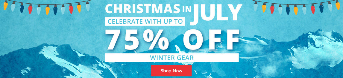 Celebrate Christmas in July with up to 75% off winter gear.