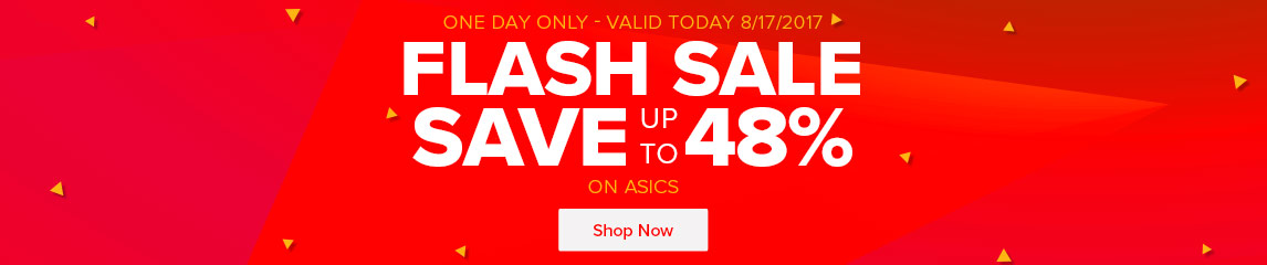 Flash Sale One Day Only - Save Up To 48% On Asics for the whole family
