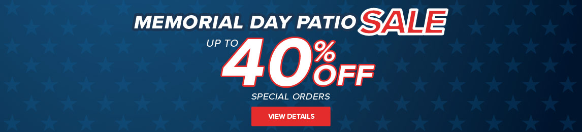 Patio Sale - Up To 40% Off Special Orders. Buy One, Get One Free Chairs