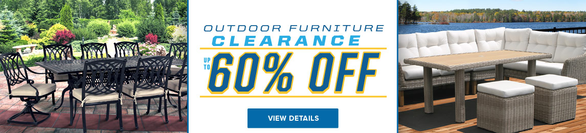 Outdoor Furniture Clearance Sale - Up To 60% Off.