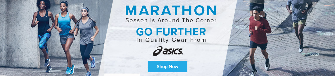Marathon season is around the corner, go further in quality gear from Asics.