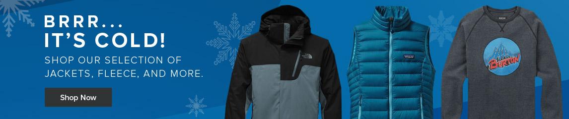 Brrr.. It's Cold! Shop winter jackets.