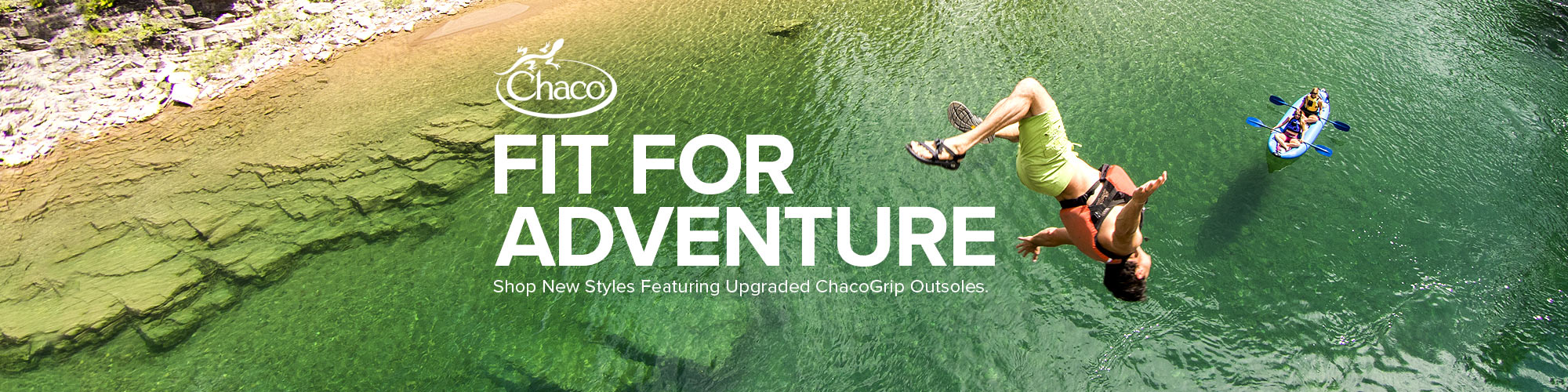 Shop new styles from Chaco featuring ChacoGrip outsoles.