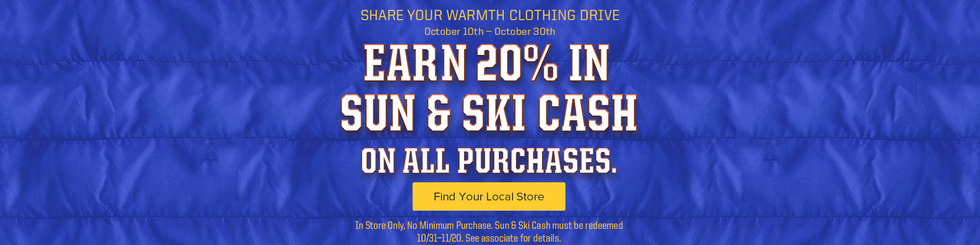 Share Your Warmth - Get $20 Back