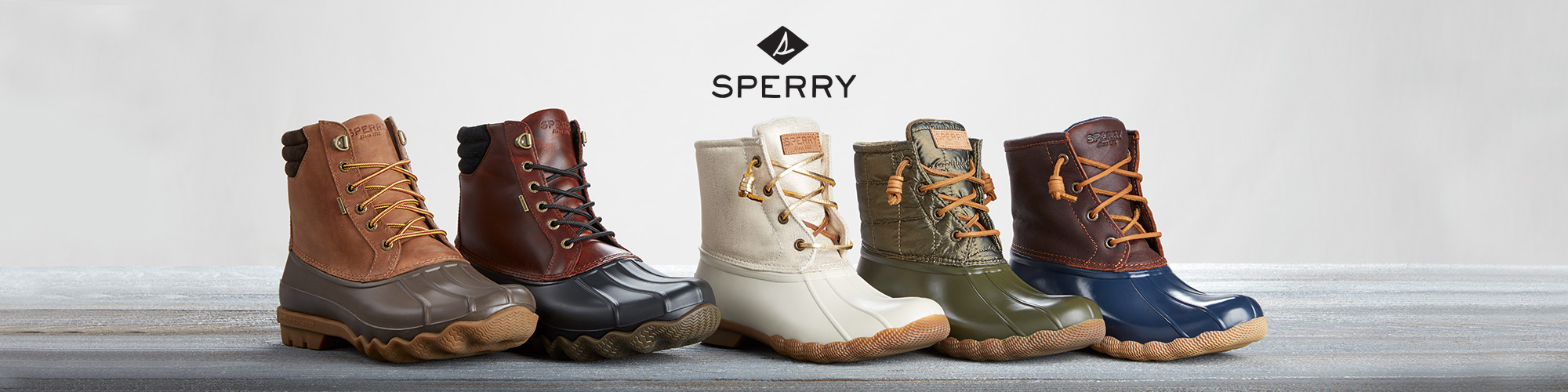 sperry duck boots & boat shoes