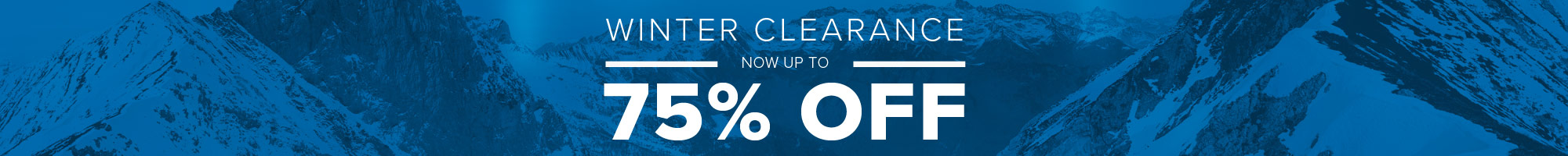 Winter Clearance Sale - Up To 75% Off