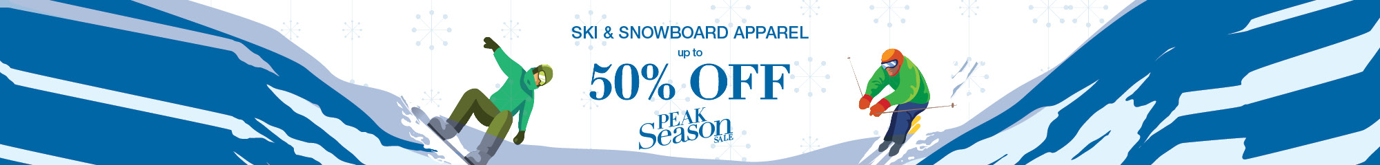 Ski & Snowboard Apparel Up to 50% Off