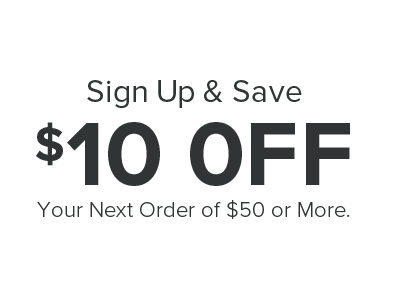 Save $10 Off $50 on your first order.