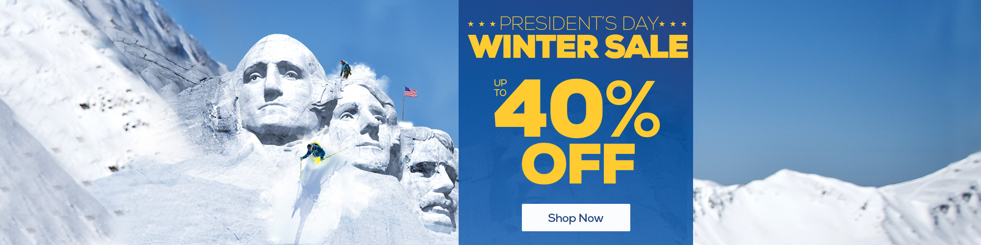 President's Day Sale. Up to 40% Off
