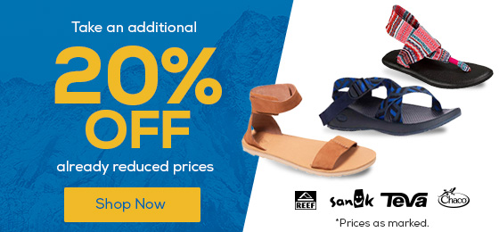 Take an additional 205 Off already reduced footwear prices.