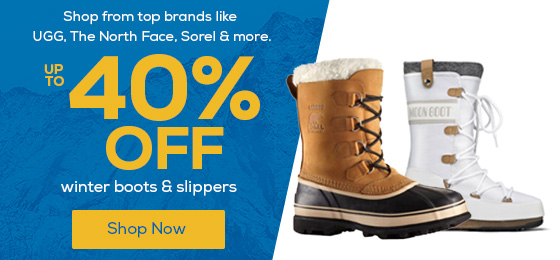 Up to 40% Off Winter Boots & Slippers. Shop from top brands like UGG, The North Face, Sorel & more!