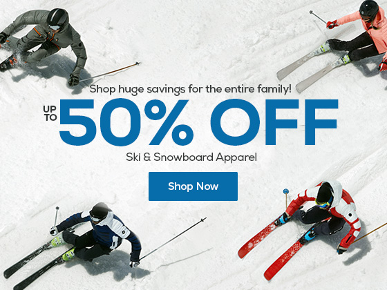 Shop huge savings for the entire family! Save up to 50% Off Ski & Snowboard Apparel.
