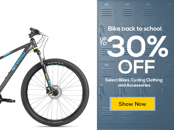 Bike back to school and save up to 30% off Select Bikes, Cycling Clothing and Accessories