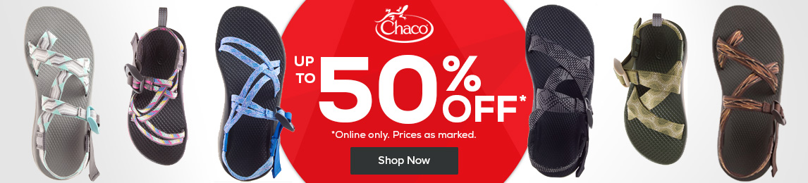 New Markdowns. Save up to 50% off Chaco. Online only. Prices as marked.